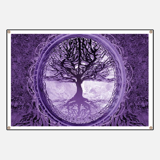 Tree of Life in Purple Banner