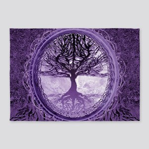 Tree of Life in Purple 5'x7'Area Rug
