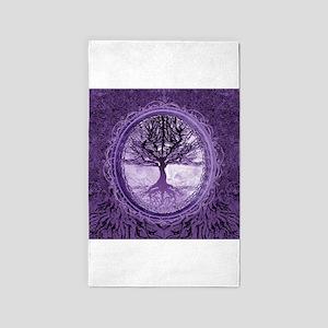 Tree of Life in Purple 3'x5' Area Rug