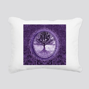 Tree of Life in Purple Rectangular Canvas Pillow