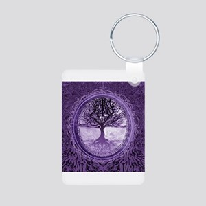 Tree of Life in Purple Keychains