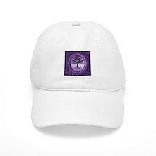 Tree of Life in Purple Baseball Cap