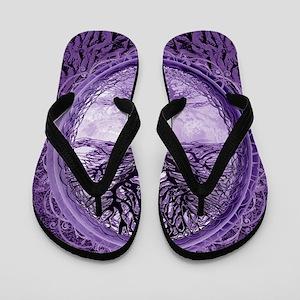 5d8351f4f Tree of Life in Purple Flip Flops