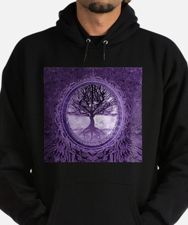 Tree of Life in Purple Hoody