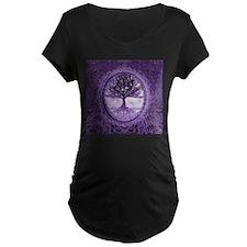 Tree of Life in Purple Maternity T-Shirt