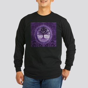 Tree of Life in Purple Long Sleeve T-Shirt
