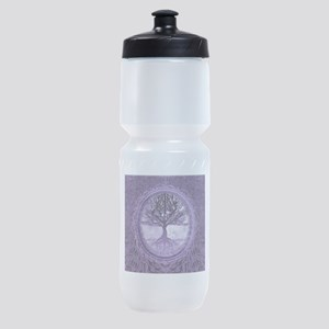 Tree of Life in Purple Sports Bottle