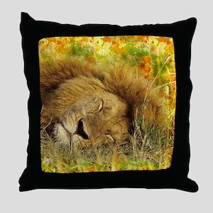 Sleeping Lion Throw Pillow