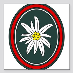 """Edelweiss Square Car Magnet 3"""" x 3"""""""