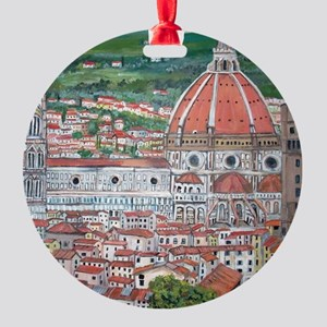 The Duomo of Florence Round Ornament