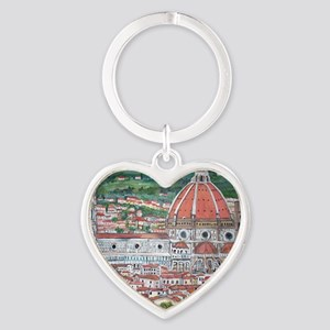 The Duomo of Florence Heart Keychain