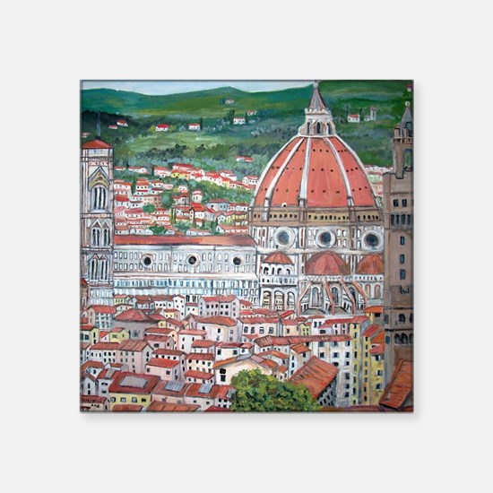 "The Duomo of Florence Square Sticker 3"" x 3"""