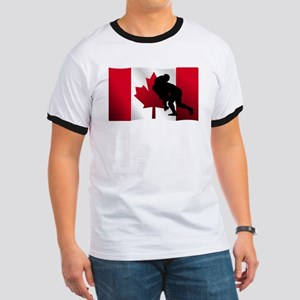 Rugby Tackle Canadian Flag T-Shirt