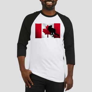 Rugby Tackle Canadian Flag Baseball Jersey