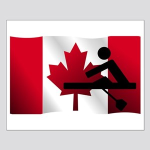 Rowing Canadian Flag Poster Design
