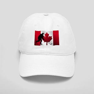 Hockey Canadian Flag Cap