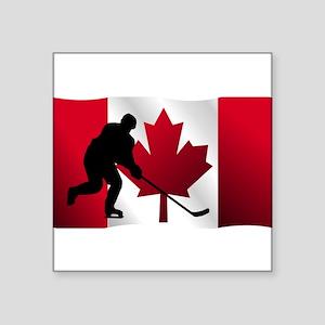 Hockey Canadian Flag Sticker