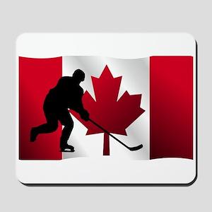 Hockey Canadian Flag Mousepad