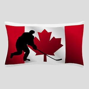 Hockey Canadian Flag Pillow Case