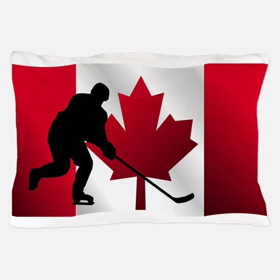 Hockey Canadian Flag Pillow Case