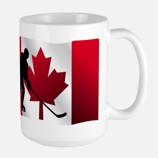 Hockey Canadian Flag Mugs