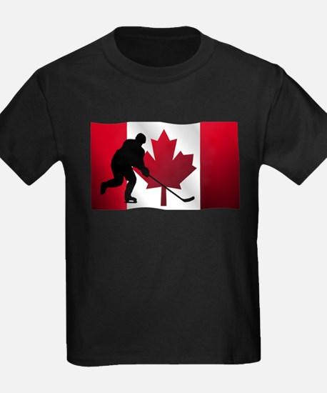 Hockey Canadian Flag T-Shirt