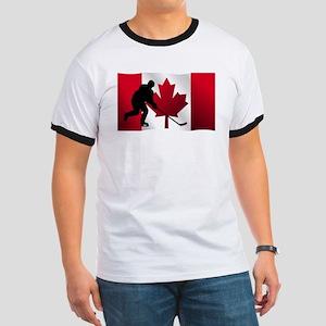 Hockey Canadian Flag T-Shirt