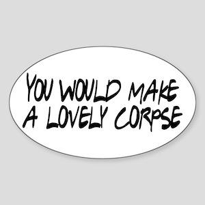 Lovely Corpse Sticker (Oval)