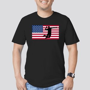 Volleyball Spike American Flag T-Shirt