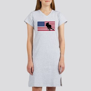 Rugby Tackle American Flag Women's Nightshirt