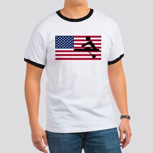 Rowing American Flag T-Shirt
