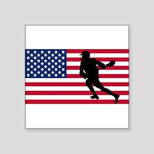 Lacrosse American Flag Sticker