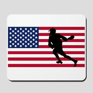 Lacrosse American Flag Mousepad