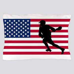 Lacrosse American Flag Pillow Case