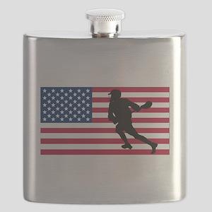 Lacrosse American Flag Flask