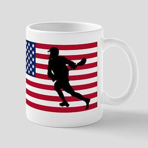 Lacrosse American Flag Mugs