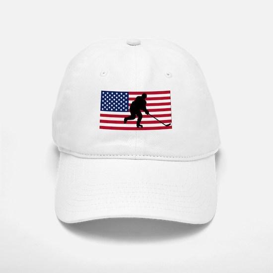 Hockey American Flag Baseball Baseball Cap
