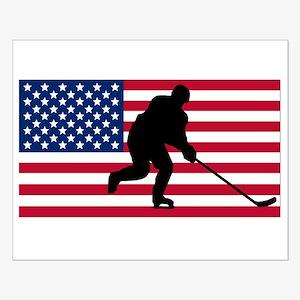 Hockey American Flag Poster Design