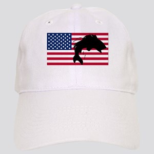 Fishing American Flag Cap