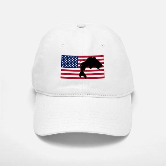 Fishing American Flag Baseball Baseball Cap