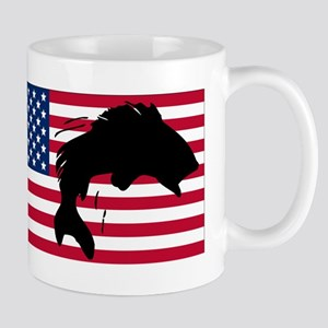Fishing American Flag Mugs