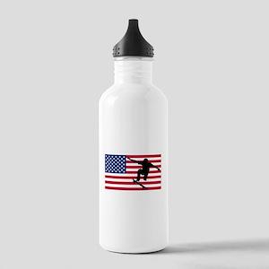 Skateboarding American Flag Sports Water Bottle