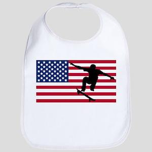 Skateboarding American Flag Bib