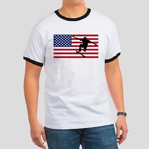 Skateboarding American Flag T-Shirt
