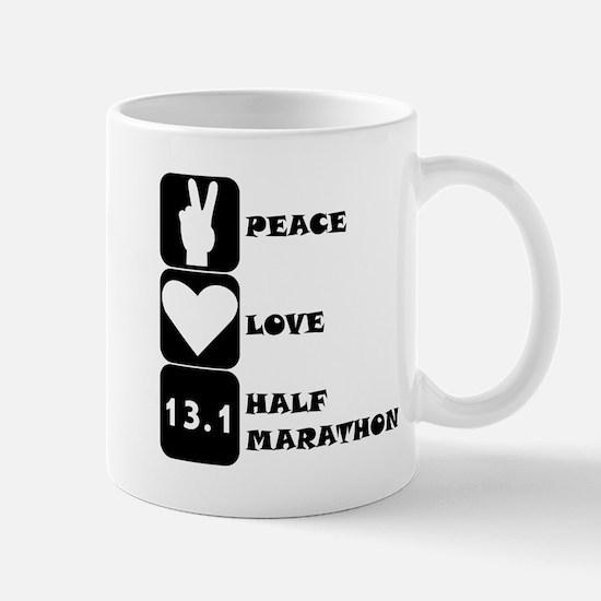 Peace Love Half Marathon Mugs
