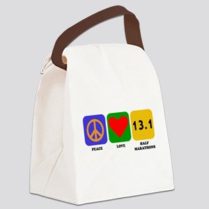 Peace Love Half Marathons Canvas Lunch Bag