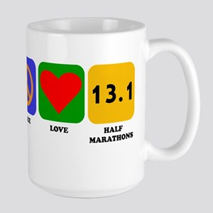 Peace Love Half Marathons Mugs
