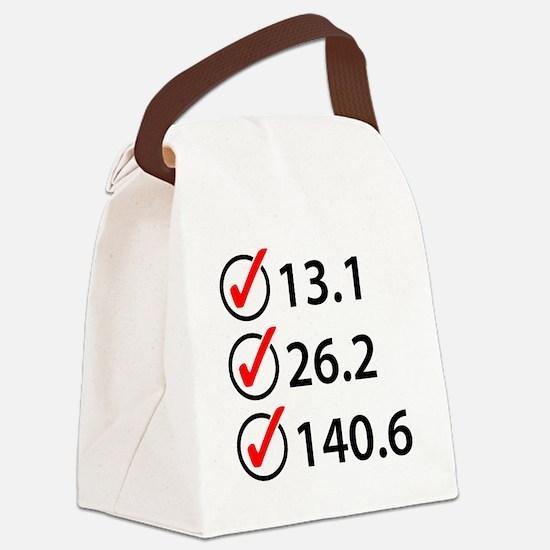 Marathon Triathlon Checklist Canvas Lunch Bag