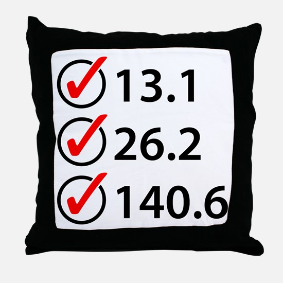 Marathon Triathlon Checklist Throw Pillow