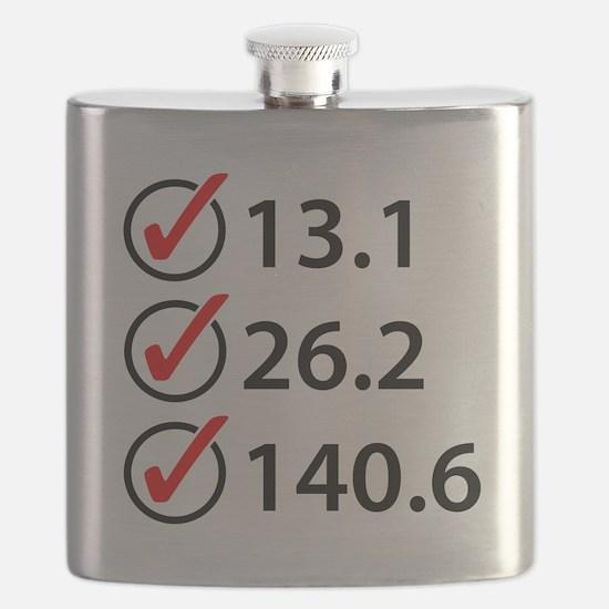Marathon Triathlon Checklist Flask